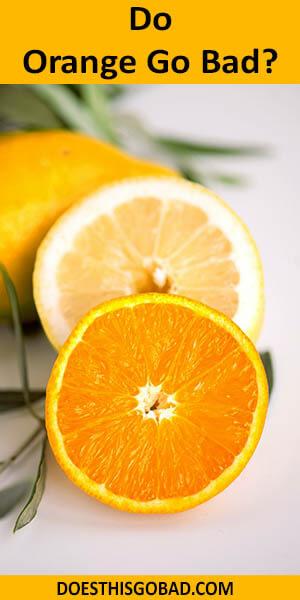 Can Orange Go Bad
